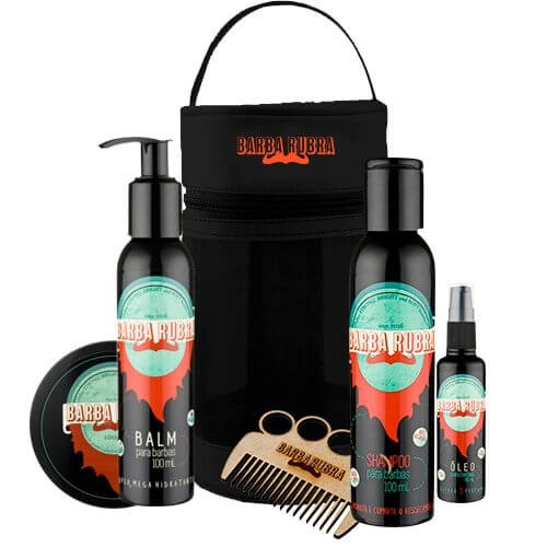 Kit Beard Power Especial c/ Necessaire Barba Rubra